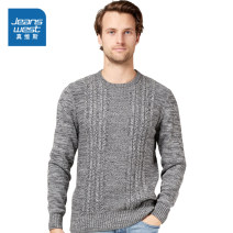 T-shirt / sweater JeansWest Youth fashion Dark grey 2040 (2 yards larger) dark black blue 2590 (2 yards larger) S M L XL XXL Socket Crew neck Long sleeves JE-04-191TB506 winter Slim fit 2020 Cotton 100% leisure time Youthful vigor youth routine other Winter 2020 Pure cotton (95% above) other