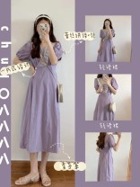 Dress Summer 2021 violet S. M, l, XL, collection plus free freight insurance Solid color