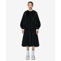 Dress Spring 2021 black S,M,L longuette singleton  Long sleeves Sweet Doll Collar Loose waist Solid color Socket A-line skirt bishop sleeve Others 25-29 years old Type A Studio1till8 More than 95% other polyester fiber princess