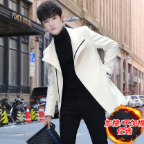 Windbreaker Gefan Leopard Youth fashion M L XL XXL XXXL zipper Medium length Self cultivation Other leisure winter teenagers stand collar tide TYFMN028&J-S Polyester 100% Solid color No iron treatment Side seam pocket Khaki Arrest line Autumn 2020 Pure e-commerce (online only)