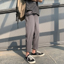 Casual pants Others Fashion City dark grey S. M, l, XL, 2XL, 3XL, XS plus small thin Ninth pants Travel? easy get shot summer teenagers Youthful vigor 2021 middle-waisted Little feet Haren pants Three dimensional tailoring No iron treatment Solid color Sweat cloth nylon nylon
