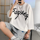 T-shirt Youth fashion T808 white, T808 black, T808 Navy, T809 white, T809 black, T809 Navy, T810 white, T810 black, T810 Navy, t811 white, t811 black, t811 Navy routine S. M, l, XL, 2XL, 3XL, XS plus small Others three quarter sleeve Crew neck easy daily summer teenagers Off shoulder sleeve tide 2021