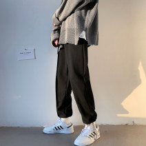sweatpants  S. M, l, XL, 2XL, 3XL, XS plus small teenagers Ninth pants Other / other Gray, black Other leisure Youth fashion Extra wide thin Four seasons middle-waisted Straight cylinder 2021 Micro bomb pocket No iron treatment