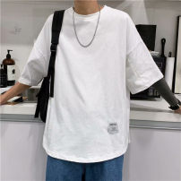 T-shirt Youth fashion Khaki, white, black thin S. M, l, XL, 2XL, 3XL, XS plus small Others elbow sleeve Crew neck easy Other leisure summer 2021