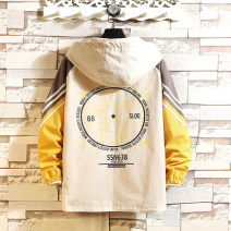 Jacket Other / other Fashion City Dark grey, black, khaki M. L, s, XL, 2XL, 3XL, 4XL, 5XL, XS plus small routine easy Other leisure spring Long sleeves Wear out Hood like a breath of fresh air youth routine Zipper placket 2021 other Closing sleeve Geometric pattern printing
