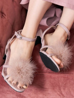 Sandals PU Other / other Barefoot Thick heel High heel (5-8cm) Summer 2021 Flat buckle Sweet Solid color Adhesive shoes Youth (18-40 years old) rubber daily Thick heel Hollow PU PU Roman shoes