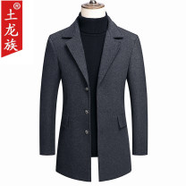 woolen coat 170/M 175/L 180/XL 185/XXL 190/XXXL 195/XXXXL Tulong nationality Business gentleman Woolen cloth Spring 2020 Medium length Other leisure Self cultivation Same model in shopping mall (sold online and offline) middle age tailored collar Single breasted Business Casual Solid color Cloth hem
