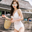 one piece  golden beach  M,L,XL Black, white Triangle one piece swimsuit With chest pad without steel support polyester fiber female Sleeveless Casual swimsuit Hollowing out