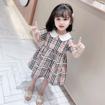 Dress Picture color female Other / other 90cm,100cm,110cm,120cm,130cm Cotton 100% summer Korean version Short sleeve lattice cotton A-line skirt Class B 3 years old, 18 months old, 5 years old, 12 years old, 7 years old, 8 years old, 6 years old, 2 years old, 4 years old Chinese Mainland Wenzhou City