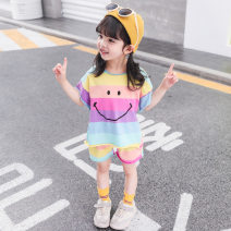 suit Star dream fate forest 100cm,110cm,120cm,130cm,80cm,90cm neutral summer Korean version Two piece set Thin money There are models in the real shooting nothing stripe cotton A Class B Other 100% 3 years old Chinese Mainland