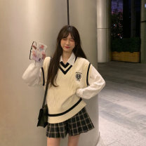 sweater Winter 2020 Average size White shirt, college vest, pleated skirt s, Pleated Skirt M other 81% (inclusive) - 90% (inclusive)