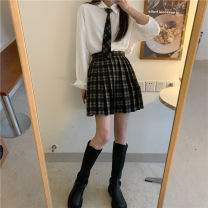 shirt S skirt + tie, shirt, m skirt + tie Average size Spring 2021 other 31% (inclusive) - 50% (inclusive) Long sleeves commute Regular Polo collar routine Solid color 18-24 years old Straight cylinder Button