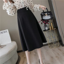 skirt Autumn 2020 S M L XL Black apricot Mid length dress Versatile Natural waist Umbrella skirt Solid color 30-34 years old More than 95% other Han daisa polyester fiber Asymmetry Polyester 100% Pure e-commerce (online only)