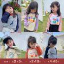 T-shirt LAN xiaopa 80, 90, qiqichuan, 100, 110, 120, 130, 140, 150 female spring Long sleeves Crew neck Simplicity There are models in the real shooting nothing other Cartoon animation Other 100%
