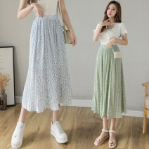 skirt Summer 2021 Average size Green skirt, blue skirt Mid length dress commute High waist A-line skirt other Type A 18-24 years old 81% (inclusive) - 90% (inclusive) other