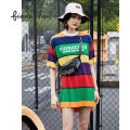 Dress Spring of 2019 Black and red XS S M Mid length dress singleton  Long sleeves commute Crew neck stripe Socket other routine Others 25-29 years old Type H Fiona Chen Korean version Lace FWZC31607 51% (inclusive) - 70% (inclusive) other cotton Cotton 51.8% acetate fiber 48.2%
