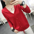 Wool knitwear Spring 2021 S,M,L,XL Red, black, purple, yellow, white, grayish blue Long sleeves singleton  Cardigan other 31% (inclusive) - 50% (inclusive) Thin money commute easy Hood routine Solid color Single breasted Korean version WS20204 18-24 years old Button
