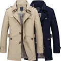 Jacket Other / other Youth fashion Black, dark blue, army green, Dark Khaki, light khaki XL,L,M,5XL,XXL,XXXL,XXXXL routine standard Other leisure Four seasons Long sleeves Wear out stand collar American leisure youth Medium length Single breasted 2018 Straight hem Crumple Regular sleeve Solid color