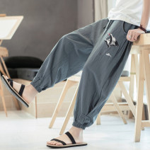 Casual pants Others Youth fashion Dark grey, black, grey green, T98 dark green, T98 grey blue M,L,XL,2XL,3XL,4XL,5XL routine Ninth pants Other leisure easy spring youth Chinese style 2020 other