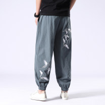 Casual pants Others Youth fashion thin trousers Travel? Extra wide No bullet spring Large size Chinese style 2020 middle-waisted Little feet Cotton 100% Sports pants Ethnic style cotton cotton