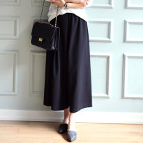 Casual pants Black (priority for collection) XL (90-130 kg recommended), 3XL (130-180 kg recommended), 5XL (180-300 kg recommended) Spring 2021 Cropped Trousers Wide leg pants street 18-24 years old other