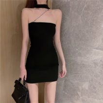 Lace / Chiffon Summer 2021 black S M L Sleeveless commute Socket singleton  Self cultivation Super short One word collar 18-24 years old Philenkay 335# Korean version Other 100% Pure e-commerce (online only)