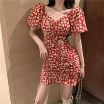 shirt gules S M L Summer 2020 other 96% and above Short sleeve commute Medium length One word collar Socket puff sleeve other 18-24 years old Self cultivation Philenkay Korean version Other 100% Pure e-commerce (online only)