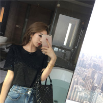 Lace / Chiffon Summer 2020 S M L Short sleeve Versatile Socket singleton  Self cultivation Regular Crew neck Solid color 25-29 years old Philenkay Other 100% Pure e-commerce (online only)