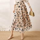 skirt Summer 2021 longuette High waist A-line skirt commute More than 95% Flounce, embroidery, fold, gauze net, stitching Design and color polyester fiber 25-29 years old 201g / m ^ 2 (including) - 250G / m ^ 2 (including) Type A Other / other 2104709128 Lace lady S,M,L,XL Apricot