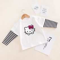 T-shirt Ktcat red, ktcat black, ktcat white, letter Kitty red, letter Kitty Black, letter Kitty white Sinredo 90 yards, 100 yards, 110 yards, 120 yards, 130 yards, [collection baby priority delivery] female spring and autumn Long sleeves High collar Korean version No model nothing cotton Class B