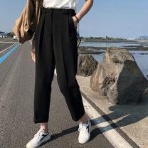 Casual pants black L [100-120 Jin], XL [120-140 Jin], 2XL [140-160 Jin], 3XL [160-180 Jin], 4XL [180-200 Jin] Spring 2021 Haren pants High waist commute routine 25-29 years old 71% (inclusive) - 80% (inclusive) WK0000628 other Korean version pocket