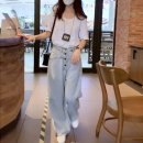 Women's large Summer 2021 Two piece set commute easy moderate Socket Short sleeve Solid color Korean version Crew neck routine cotton Three dimensional cutting routine Other / other 25-29 years old pocket trousers