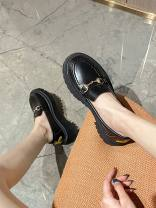 Low top shoes 35,36,37,38,39,40,41,42,43 Other / other Black [Danli], black [Rongli] Round head Superfine fiber Thick heel Middle heel (3-5cm) Deep mouth PU Autumn 2020 Trochanter Korean version Adhesive shoes Youth (18-40 years old) Solid color rubber Single shoes Thick heel PU daily SM 128-5