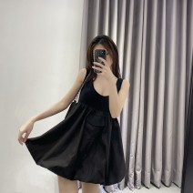 Dress Spring 2021 Black, white S,M,L singleton  Sleeveless commute High waist Solid color Socket other routine 25-29 years old Korean version 71% (inclusive) - 80% (inclusive) other other