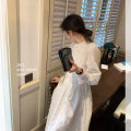 Dress Summer 2021 Cream dress (3rd batch), cream apricot (3rd batch), cream apricot, cream apricot (2nd batch), cream dress, cream dress (2nd batch) S,M,L singleton  Long sleeves commute routine Liebeilin Korean version More than 95% cotton
