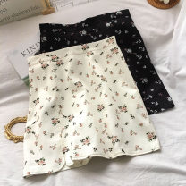 skirt Summer 2021 S M L XL White black Short skirt commute High waist A-line skirt Broken flowers Type A 18-24 years old K032205 More than 95% other VV combination other Asymmetric zipper printing Korean version Other 100% Pure e-commerce (online only)