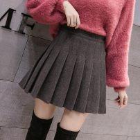skirt Winter of 2018 XS,S,M,L,XL,2XL,XXXL Black [autumn winter woolen], gray [autumn winter woolen], light Khaki [autumn winter woolen], Navy [autumn winter woolen], black [Summer], white [Summer], orange [Summer], pink [Summer], Navy [Summer], blue [Summer], gray [Summer] Short skirt Versatile other