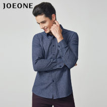 shirt Business gentleman Joeone / nine shepherds 165/88A 170/92A 175/96A 180/100A 185/104A 160/84A 185/108B 185/112B Jc384122t + gray blue + Standard Version routine square neck Long sleeves standard daily autumn JC482081T youth Cotton 67.6% regenerated cellulose fiber 32.4% Business Casual 2020