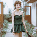 Split swimsuit BEDIS green M,L,XL Skirt split swimsuit With chest pad without steel support other