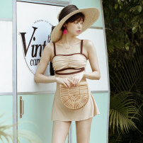 one piece  W minor M,L,XL Apricot Skirt one piece With chest pad without steel support other female