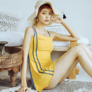 one piece  W M,L,XL yellow Skirt one piece With chest pad without steel support Spandex, polyester, others female