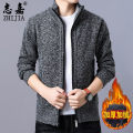 T-shirt / sweater Zhijia Fashion City 165/M 170/L 175/XL 180/XXL 185/XXXL 190/XXXXL thickening Cardigan stand collar Long sleeves autumn easy 2018 Other 100% leisure time Youthful vigor youth routine Solid color Autumn of 2018 No iron treatment Pure e-commerce (online only)