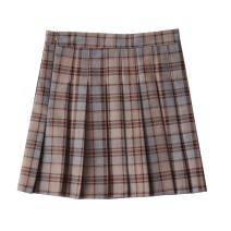 skirt Autumn 2020 S,M,L,XL Picture color Short skirt Versatile High waist Pleated skirt lattice Type A 18-24 years old