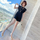 Jumpsuit / pants 51% (inclusive) - 70% (inclusive) shorts other High waist commute Black and white S M L XL 2XL 3XL Summer 2020 P-51332 miuco Pure e-commerce (online only)