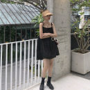 Dress Summer 2021 black Average size Short skirt singleton  Sleeveless commute One word collar High waist Solid color Socket other other camisole 18-24 years old Type A Other / other Korean version 51% (inclusive) - 70% (inclusive) other other