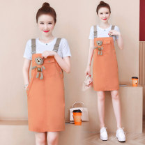 Fashion suit Summer 2021 S M L XL Orange pink apricot 25-35 years old Chu Xin 605-1 cotton Other 100% Pure e-commerce (online only)