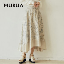 skirt Spring 2021 F Black Beige longuette commute Natural waist A-line skirt Solid color Type A 25-29 years old More than 95% Chiffon MURUA other printing Simplicity Other 100% Same model in shopping mall (sold online and offline)