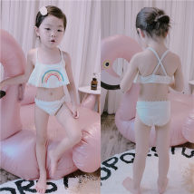 Bathing suit 90cm 100cm 110cm 120cm 130cm 140cm 150cm Polyester 100% Rainbow swimsuit suit with matching swimming cap Other / other female Children's split swimsuit 008 other