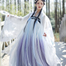 National costume / stage costume Summer of 2019 White large sleeve single piece, white jacket single piece, red large sleeve single piece, gradient blue purple waist skirt, gradient blue purple chest skirt XS,S,M,L 18-25 years old