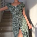 Dress Summer of 2018 Green long S,M,L